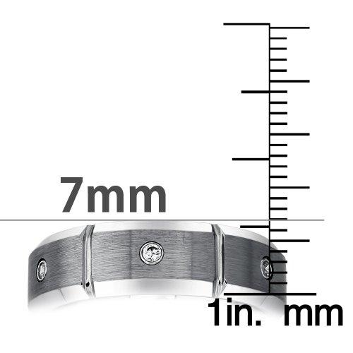 Mens Tungsten Diamond Band (0.15 carats, H-I I2) by AX Jewelry (Image #4)