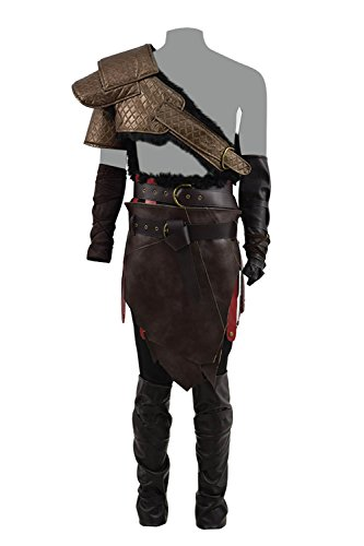 Kratos Costume Halloween Spartan Ghost Cosplay Party Batter Outfit Full Set (X-Large, Men Full Set) -