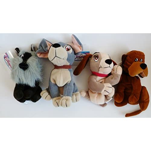 Best Retired Disney Lady And The Tramp Complete Set Of 4 Plush Bean Bag Dolls Including Tramp Lady Jock And Trusty Mint With Tags Tycofs Cz
