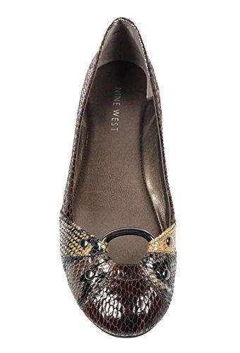 NINE WEST - Zapatos Bailarina Para Mujer NWLIGHTNING BROWN MULTI Tacón: 2 cm