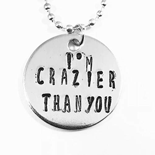 (Addams Family Musical I'm Crazier Than You Hand Stamped)
