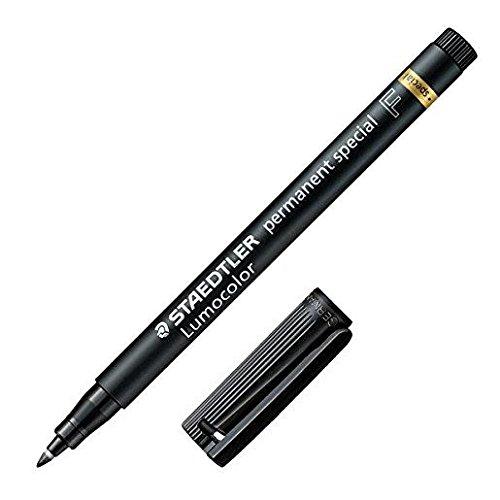 STAEDTLER Pack Of 3 Lumocolor Permanent Marker PensSpecial 319F Fine Tip - Black