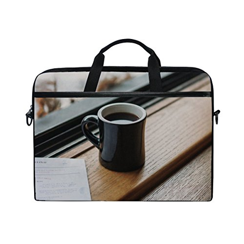 Rh Studio Laptop Bag Cup Coffee Tea Laptop Shoulder Messenger Bag Case Sleeve For 14 Inch To 15.6 Inch With Adjustable Notebook Shoulder (Shoulder Straps Tea)