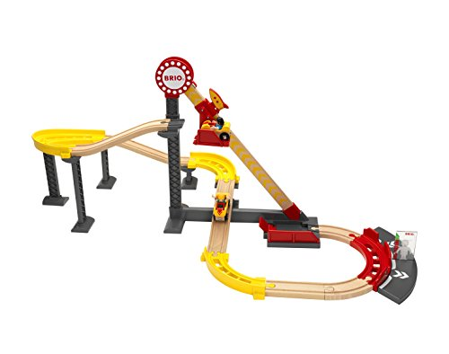 BRIO World - 33730 Roller Coaster Set Train | A 24 Piece Wooden Railway Amusement Park for Kids Ages 3 and Up