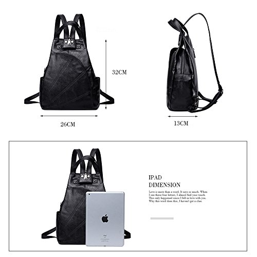 Yoome Theft Resistant Backpack Travel Women School for Water College Durable Multipurpose Black Anti BqrwtB
