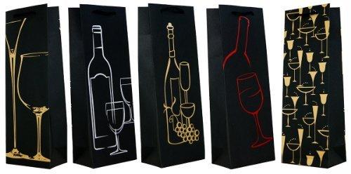 30 Geschenktüten schwarze Flaschentüten Large 36x13x8 Flaschen & Gläser 99-0144