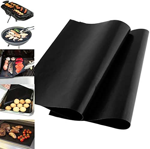 MYA 1Pc Ustensiles pour Barbecue,réutilisable Antiadhésif Barbecue Grill Tapis,BBQ Mat Antiadhésif,0.08 Mm Épais Tapis De Barbecue33x40 Cm