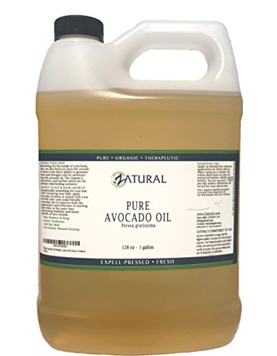 Virgin Avocado Oil Multiple Sizes Available-100% Unrefined Pure, Clean, Naked Avocado Oil- 0 Additives- Certified Food & Therapeutic Grade (128 Ounce (1 Gallon))