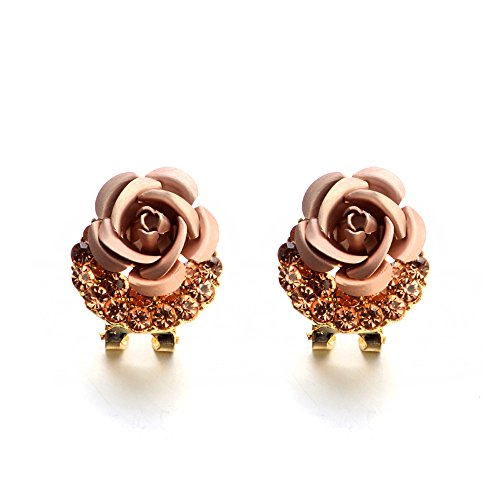 Clearance Sale!DEESEE(TM)Fashion Jewelry Bohemia Flower Rhinestone Earrings for Women Summer Style -