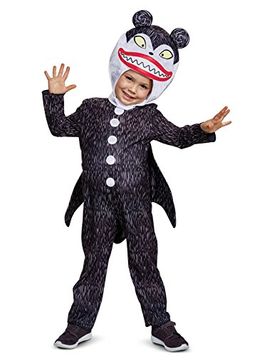 Disguise Scary Teddy Classic Toddler Child Costume, Black,