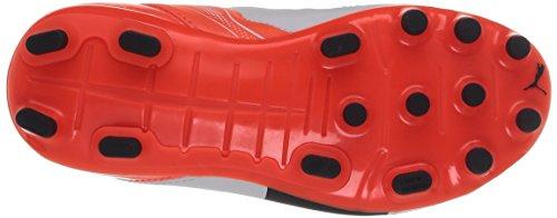 Puma evoPOWER 4.2 AG Jr - zapatillas de fútbol de material sintético infantil blanco - Weiß (white-total eclipse-lava blast 04)