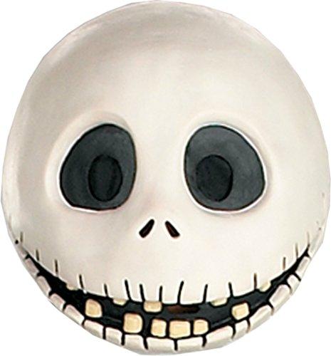 [Jack Skellington Nightmare Before Christmas Latex Adult Halloween Costume Mask] (Jack Skellington Mask)