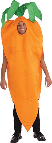 [UHC Men's Carrot Vegetables Healthy Funny Theme Party Adult Halloween Costume, OS] (Mens Halloween Costumes Cheap)