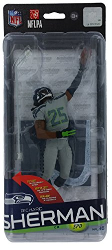 (McFarlane Toys NFL Seattle Seahawks Sports Picks Series 36 Richard Sherman Action Figure [Gray Uniform])