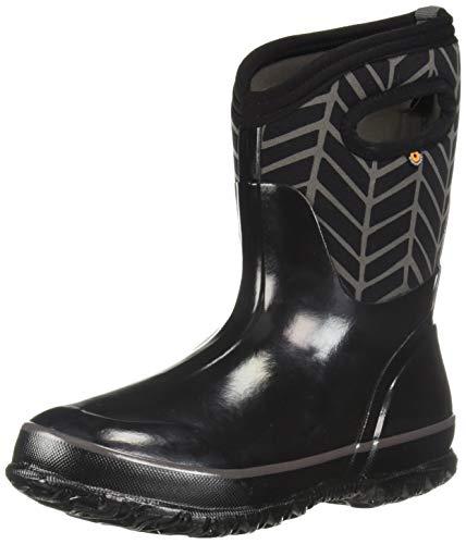 - Bogs Women's Classic Printed NEO-TECH Snow Boot, mid Badge Black/Multi, 6 Medium US