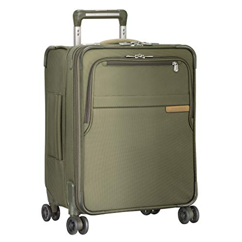 International Body - Briggs & Riley Baseline International Carry-On Expanadable Wide-Body Spinner, Olive, One Size