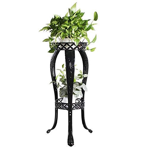 Arch Decorative 32 Door - Metal Potted Plant Stand, 32inch Rustproof Decorative Flower Pot Rack with Indoor Outdoor Iron Art Planter Holders Garden Steel Pots 2 Tiers Containers Supports Corner Display Stand
