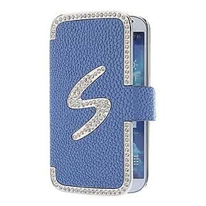 GDW S Line Diamond Pattern Lleno de Administración para su Samsung Galaxy S4 i9500 (colores surtidos) , Blue