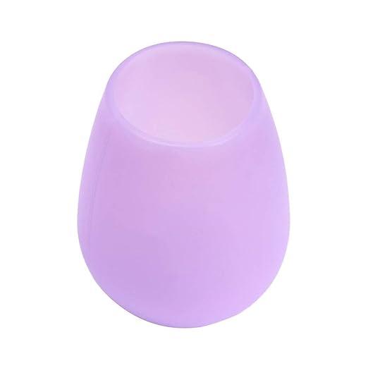 Copas de Agua Vaso de Vino sin Tallo de Silicona irrompible, Apto ...