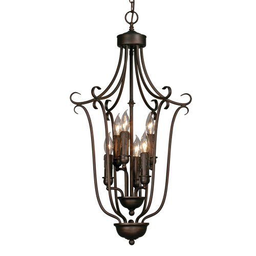 Multi Family 1 Light (Golden Lighting 6426-6 RBZ Multi-Family Caged Foyer, Rubbed Bronze Finish)