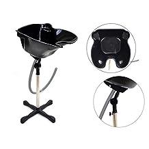 Bowl Sink Beauty Salon Barber Shop Hair Equipment Backwash Hair Portable Height Adjustable