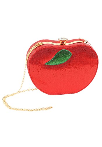 Red Apple Purse - Rhinestone Apple Purse - ST