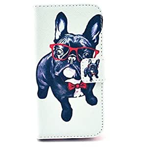 SHOUJIKE Happy Dog Pattern PU Leather Case with Card Slot and Stand for Samsung Galaxy S4 mini I9190