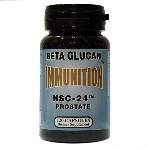 IMMUNITION NSC Prostate Formula with MG Beta Glucan 120 Capsules by NSC-24 IMMUNITION