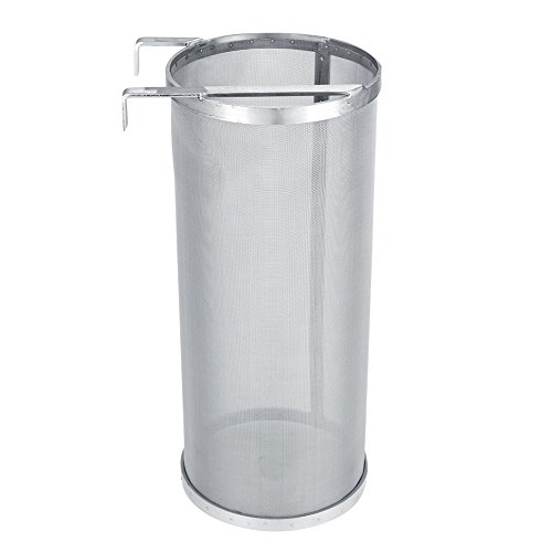 Zerodis 300 Micron Mesh Stainless Steel Brew Filter Homemade Beer Brew Strainer Hook Dry Hopper Filter (1535cm)