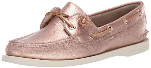 (SPERRY Women's A/O Vida Metallic Boat Shoe, Rose Gold, 7 )