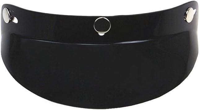 Demiawaking Visi/ère 3 boutons pour casque moto v/élo visi/ère pare-soleil casque r/étro