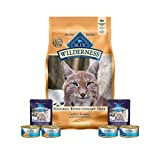 Wilderness Blue Dry Cat Food-Grain Free Chicken 2 lb Bag 2 Chicken Gravy Toppers 2 cans Blue Grilled Chicken & 2 cans Blue Flaked Chicken Entree Plus 1 Lid to reseal Larger Image