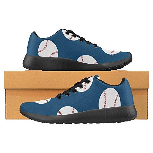 Interestprint Femmes Jogging Running Sneaker Léger Aller Facile À Pied Casual Confort Sportif Chaussures De Course American Sport Championnat Baseball Multi 1