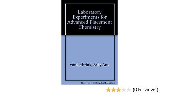 amazon com laboratory experiments for advanced placement chemistry rh amazon com