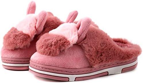 LONSOEN Boys Girls Memory Foam Coral Fleece House Slippers Comfy Fur Slippers KDB022