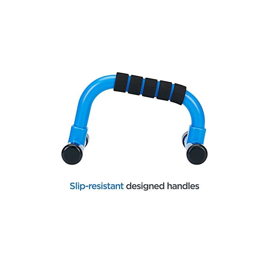 Basics Hardware Push Up Bar Stands, Portable Handle Set