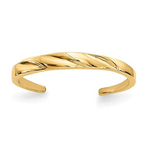 Twinkle 14k Toe Ring - Jewelry Adviser Toe Rings 14k Fancy Toe Ring