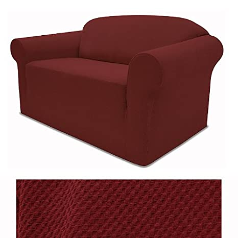Amazon.com: Stretch Pique Cálido Maroon Muebles Slipcover ...