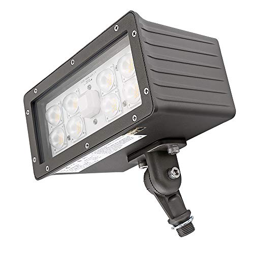 Area Light Security (1000LED 70W LED Flood Light High Lumens 8,050Lm Daylight 5000K AC110-277V Waterproof IP65 UL DLC Listed for Wall Light with Kunckle Security Backyard Area)