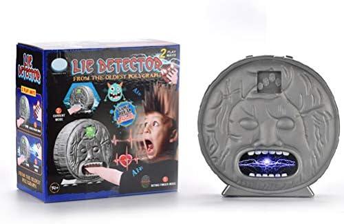 Detector de mentiras, antigüedades Detector de mentiras Juguetes de Fiesta Juego de Mesa Novedad Mordiendo Dedos Polígono de luz de Choque eléctrico: Amazon.es: Hogar
