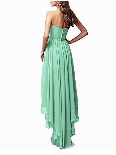 Short Botong Back Women's Bridesmaid Front Green Mint Dress Blush Short Prom Sweetheart Dress aXrwaf