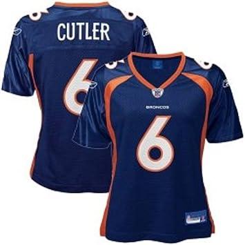 NFL Football Jersey camiseta mujer Ladies Denver Broncos Jay Cutler   6  Marina en L (Large)  Amazon.es  Deportes y aire libre cde67ef1254