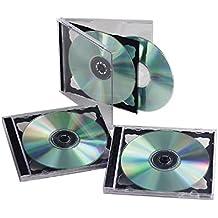 Yens Standard Double CD Jewel Case Assembled, Black, 25 Piece