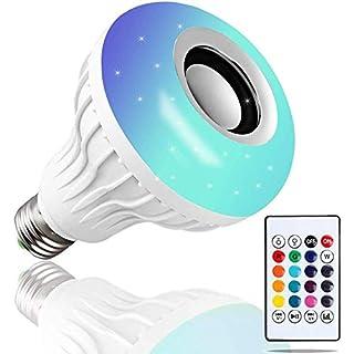 DGRENA E26/E27 12W RGB LED Music Light Bulb,LED Light Bulb Bluetooth Speaker, Wireless Light Bulb Speaker CE Certification, New Year's Gift, Atmosphere Creation