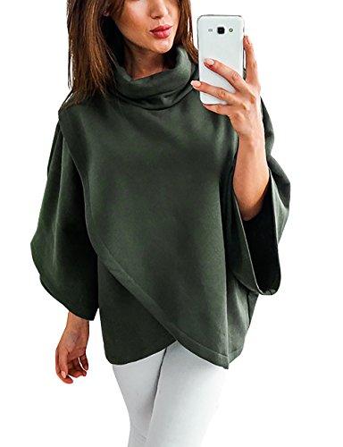 Over Veste Sweat Femme Vert Manches Pull Shirt Pull Jacket Longues Chic Col Oversize Yieune Manteau Capuche Haut a Uqf7nxwE6