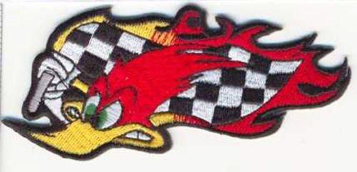 - Woody Woodpecker Arboreal Racing Emblem Decorative Jacket Sleeve Biker Patch
