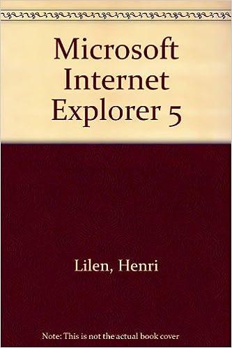 Télécharger en ligne Microsoft Internet Explorer 5 pdf