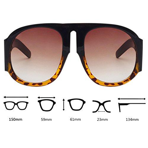 grandes de Carey Gafas sol tamaño de UV400 Retro livianas Black Con Concha Gafas Designer Blocking de y gran conducción fvFx8