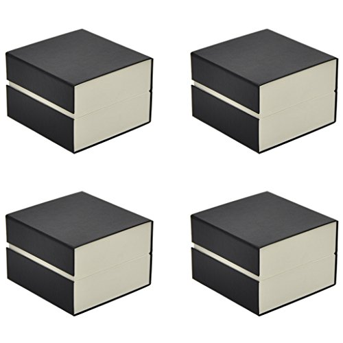 ORIGIA Present Gift Box Case Bracelet Watch Box Travel Storage Case Black 4 Pcs
