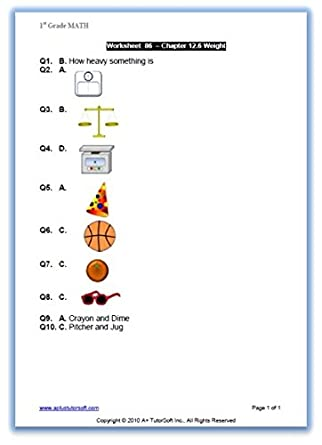 Amazon.com: 1st, First Grade Math Curriculum Bundle - Lessons ...
